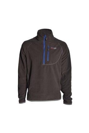 Unisex Siyah Polar Man Half Zipper Fleece 105272
