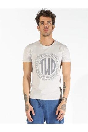 Erkek Taş  Büyük Beden Baskılı T-shirt 1407 Bb resmi