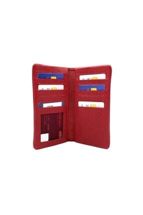 EMİNSA DERİ Kırmızı Deri Telefonluk-kartlık 1