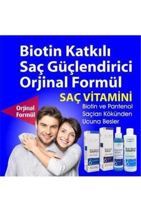 DermaDerm Saç Dökülmesine Karşı Mavi Su Ve Saç Güçlendirici Serum 125 Ml Biotin Panthenol Vitamin Keratin 1