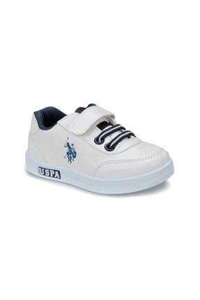 US Polo Assn U.s. Polo Assn. Çocuk Spor Ayakkabı Cameron 21-25 Beyaz/White 40W040CAMERON 0
