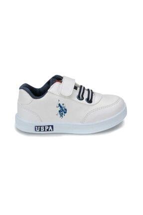 US Polo Assn U.s. Polo Assn. Çocuk Spor Ayakkabı Cameron 21-25 Beyaz/White 40W040CAMERON 1