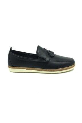 Taşpınar Erkek  Siyah  Deri Tam Ortopedik  Günlük Yazlık Ayakkabı 1