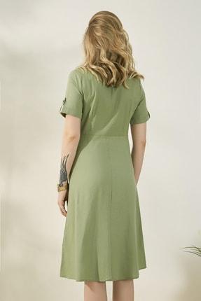 Peeri Kadın Çağla Yeşili Elbise P529Kel153 2