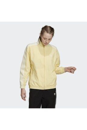 adidas Kadın Sarı Track Top Sweatshirt 0