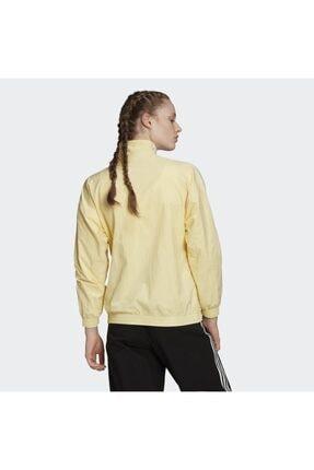 adidas Kadın Sarı Track Top Sweatshirt 1