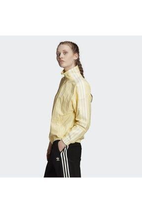 adidas Kadın Sarı Track Top Sweatshirt 3