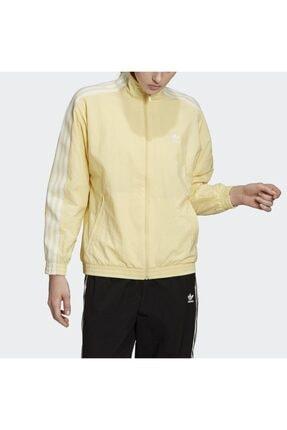adidas Kadın Sarı Track Top Sweatshirt 4