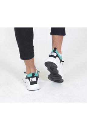 Niv Tekstil Erkek Beyaz Yeşil Macro Jamper  Spor Ayakkabı 2