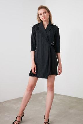 TRENDYOLMİLLA Siyah Çizgili Elbise TWOAW20EL1517 2