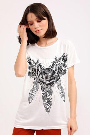 metropol tekstil Kadın Bej  T-Shirt 1