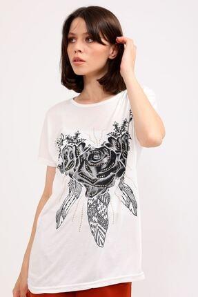 metropol tekstil Kadın Bej  T-Shirt 2