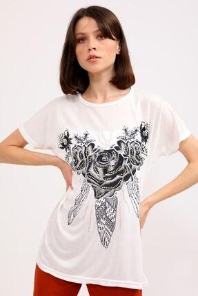 metropol tekstil Kadın Bej  T-Shirt 3