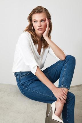 TRENDYOLMİLLA Beyaz Basic Gömlek TWOSS20GO0241 2