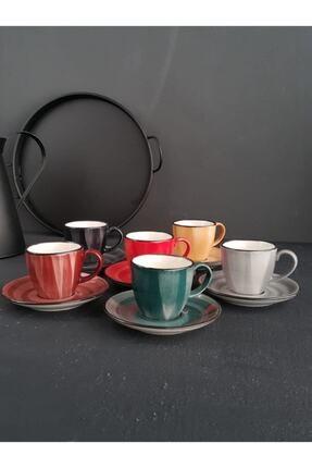 AROW Porline Kahve Fincan Takımı Asorti Kr20 2