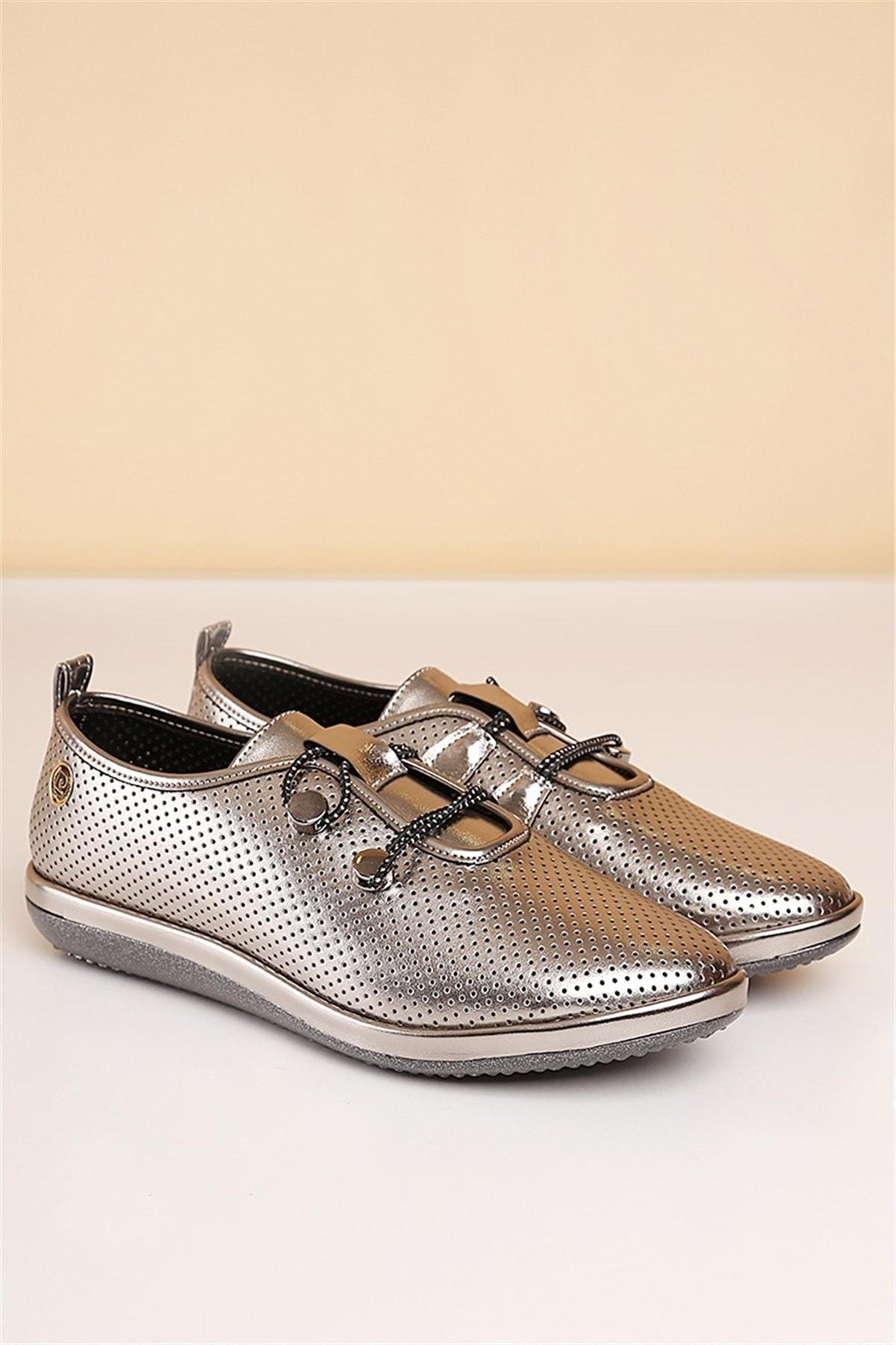 Pierre Cardin Kadın Günlük Ayakkabı-gümüş
