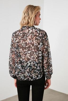 TRENDYOLMİLLA Siyah Çiçekli Gömlek TWOAW21GO0080 4