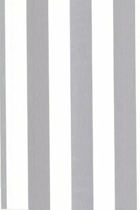 Design Time Gümüş Rengi Çizgili Duvar Kağıdı (5 M²)  1911 3
