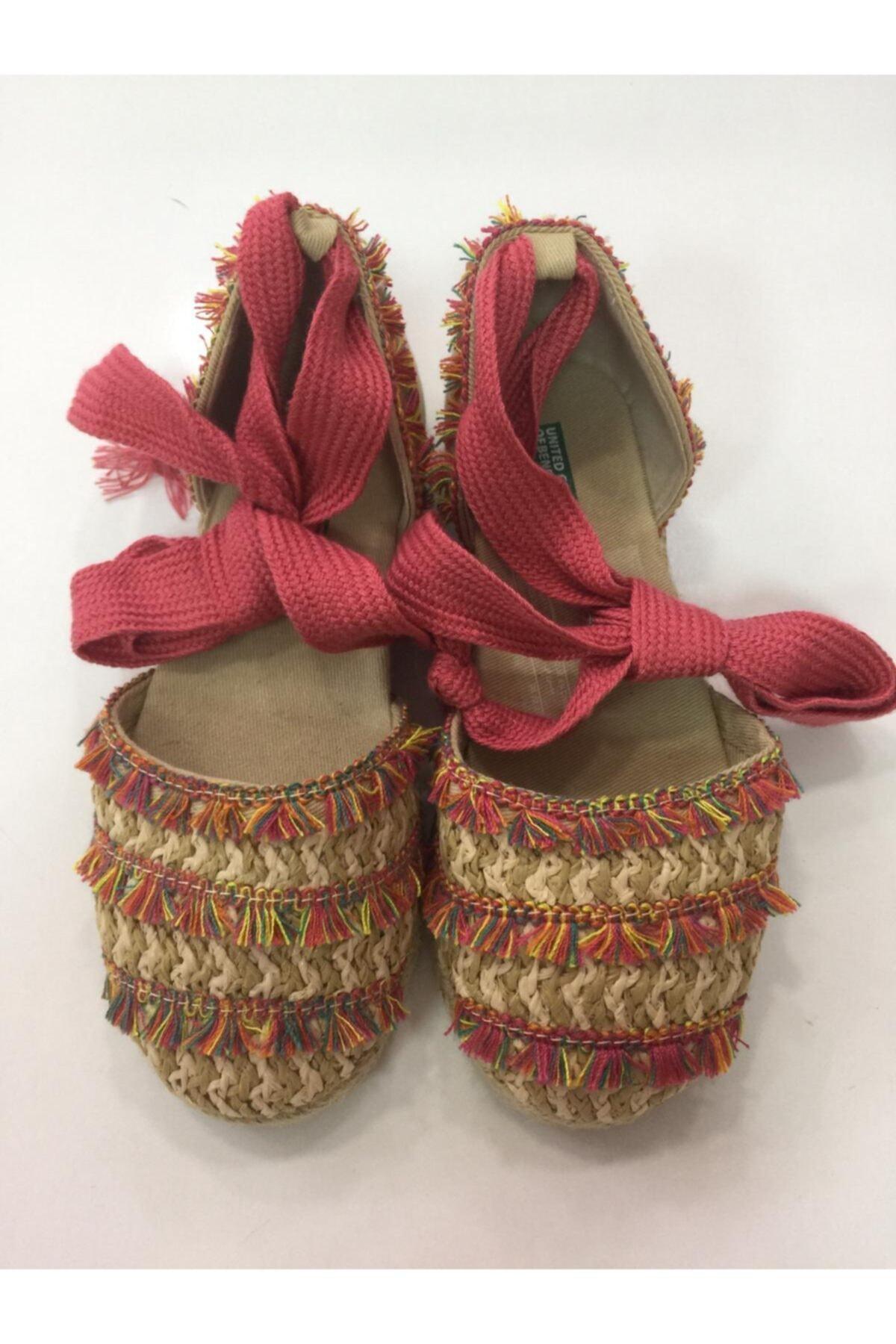 Benetton Kız Çocuk Hasır Ayakkabı