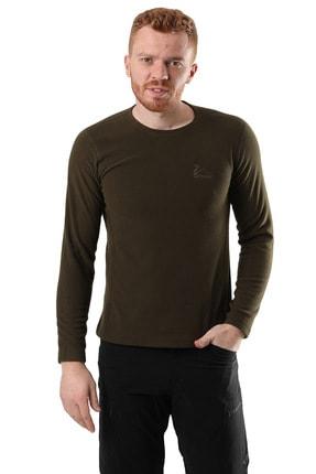 Climbolic Erkek Haki Polar Sweatshirt 0