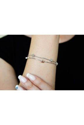ARGON JEWELLERY 925 Ayar Yıldız Figürlü Kadın Gümüş Bileklik 1