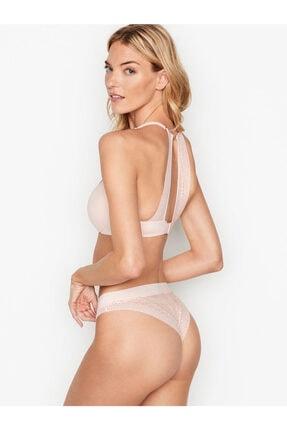 Victoria's Secret Kadın Pembe Dantelli Brazilian Külot 2