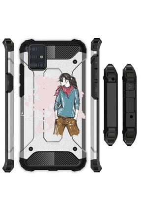 Cekuonline Samsung Galaxy A31 Kılıf Desenli Antishock Crash Kapak - Relax Kız 0