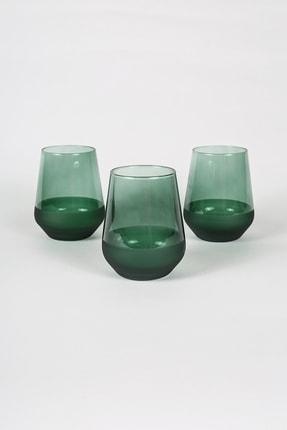 Rakle Matte 3'lü Su Bardağı Seti Yeşil 425 cc 0