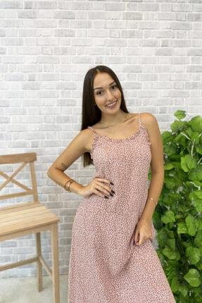 Jolenth Çiçekli Askılı Elbise 2