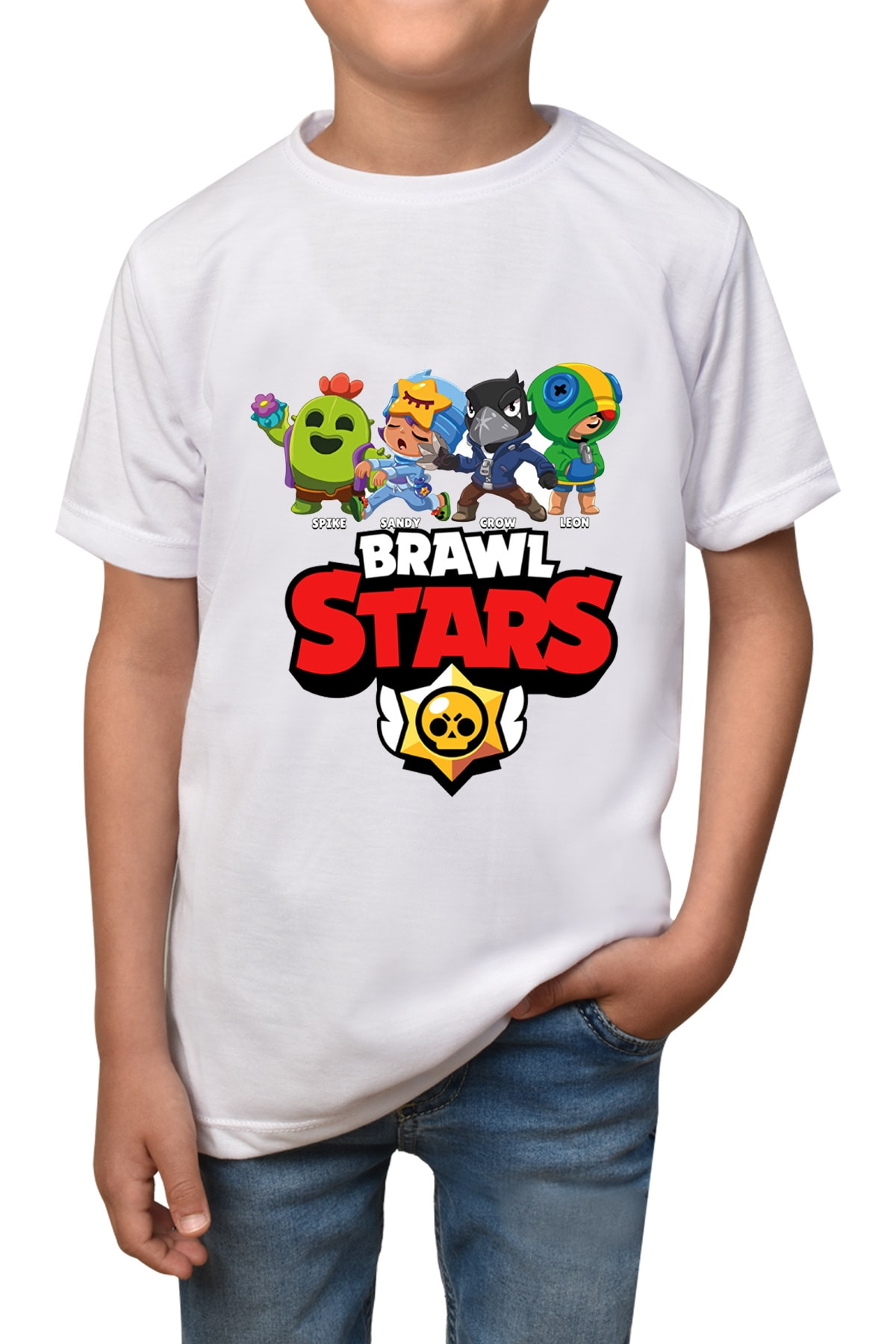 Çocuk Beyaz Brawl Stars T-shirt T-17