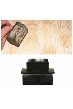 Rich Doku Tarağı Budak Aleti Ahşap Tarağı Wood Grainer 9.5cm 1