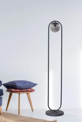 Luzarana Zenga Antrasit Metal Gövde Füme Camlı Tasarım Lüx Yerden Aydınlatma Lambader 0