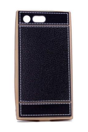 Zore Sony Xperia X Compact Kılıf Deri Lazer Kaplama Silikon 0