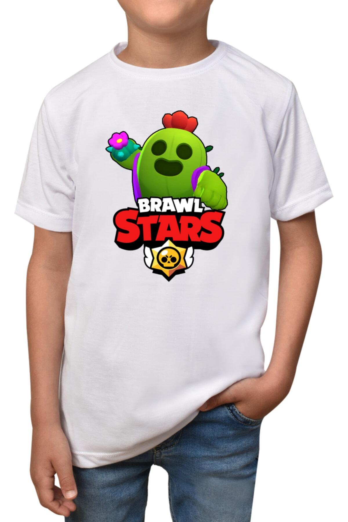 Brawl Stars - Spike- Beyaz Çocuk -  T-shirt T-1