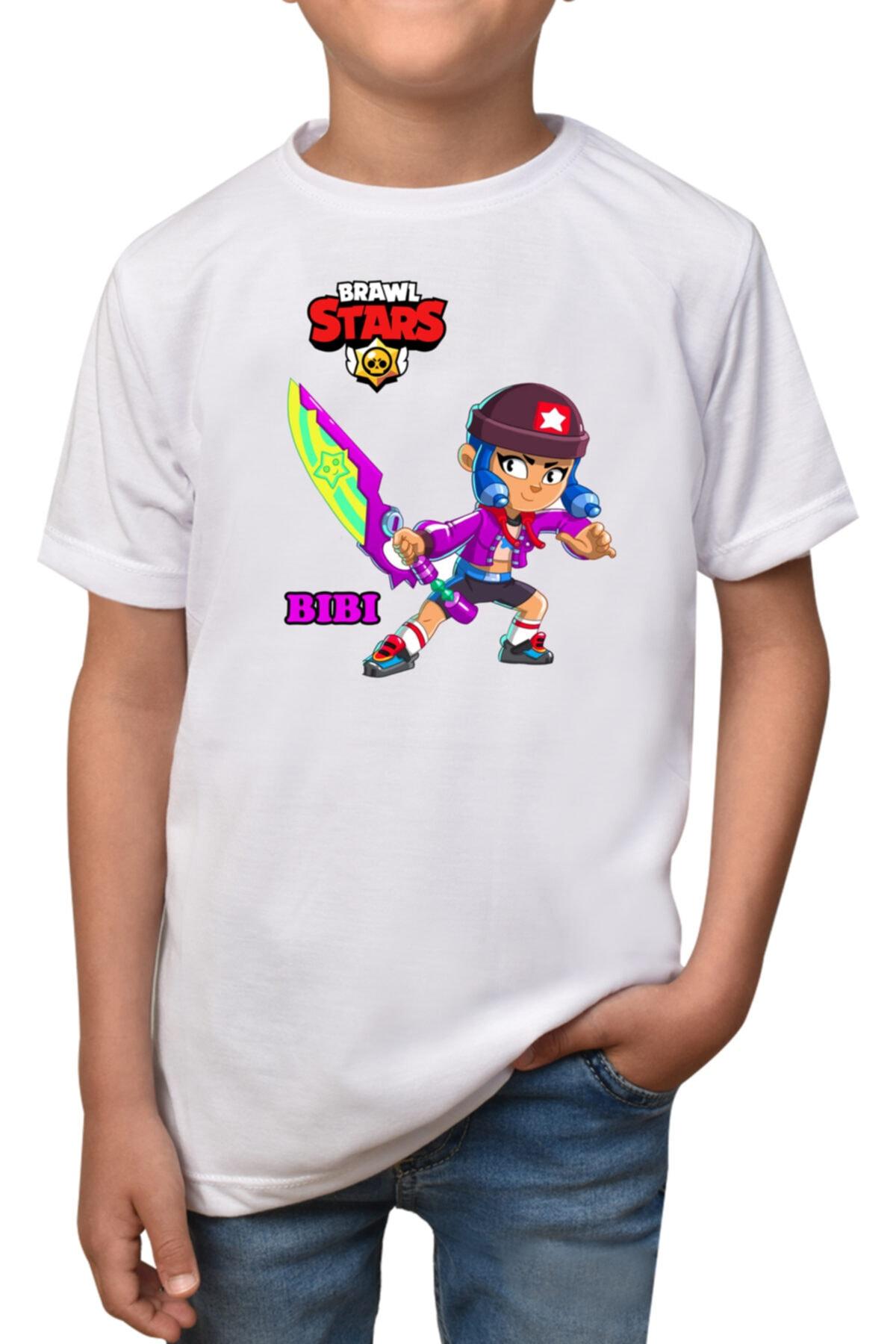 Brawl Stars - Bibi- Beyaz Çocuk -  T-shirt T-4