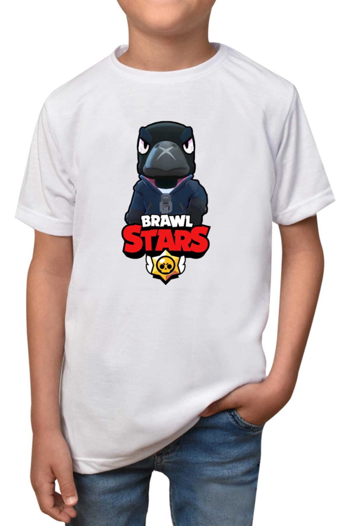 Brawl Stars - Crow- Beyaz Çocuk -  T-shirt T-3