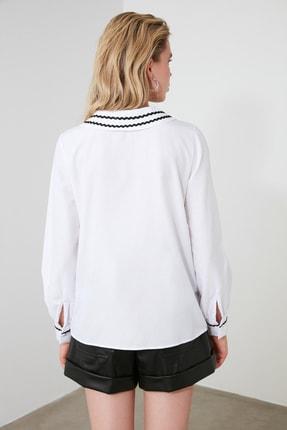 TRENDYOLMİLLA Beyaz Yaka Detaylı Bluz TWOSS20BZ0036 4