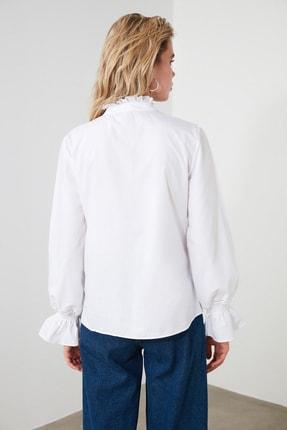 TRENDYOLMİLLA Beyaz Yaka Detaylı Gömlek TWOSS20GO0421 4