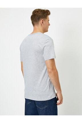 Koton Erkek Nasa Lisansli Baskili Kisa Kollu Bisiklet Yaka  T-Shirt 3