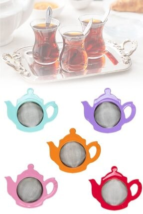 Pazarika Çaydanlık Şeklinde Çay Süzgeci 0