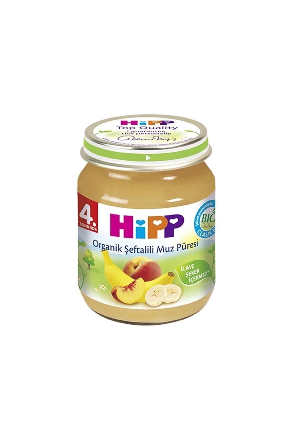Hipp Organik Şeftalili Muz Püresi 125 gr 0