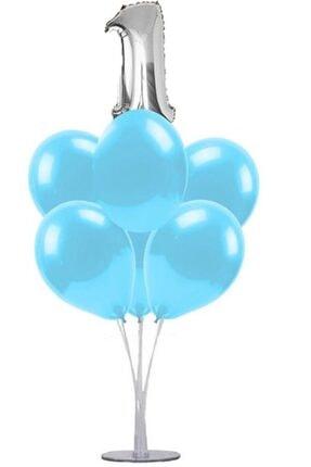 KullanAtParty Altın Beyaz Pembe 4 Yaş Doğum Günü Temalı Balon Standı 4