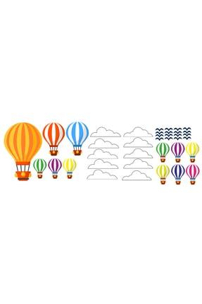 Tilki Dünyası Uçan Balonlar Beyaz Bulutlar Ve Kuşlar 1