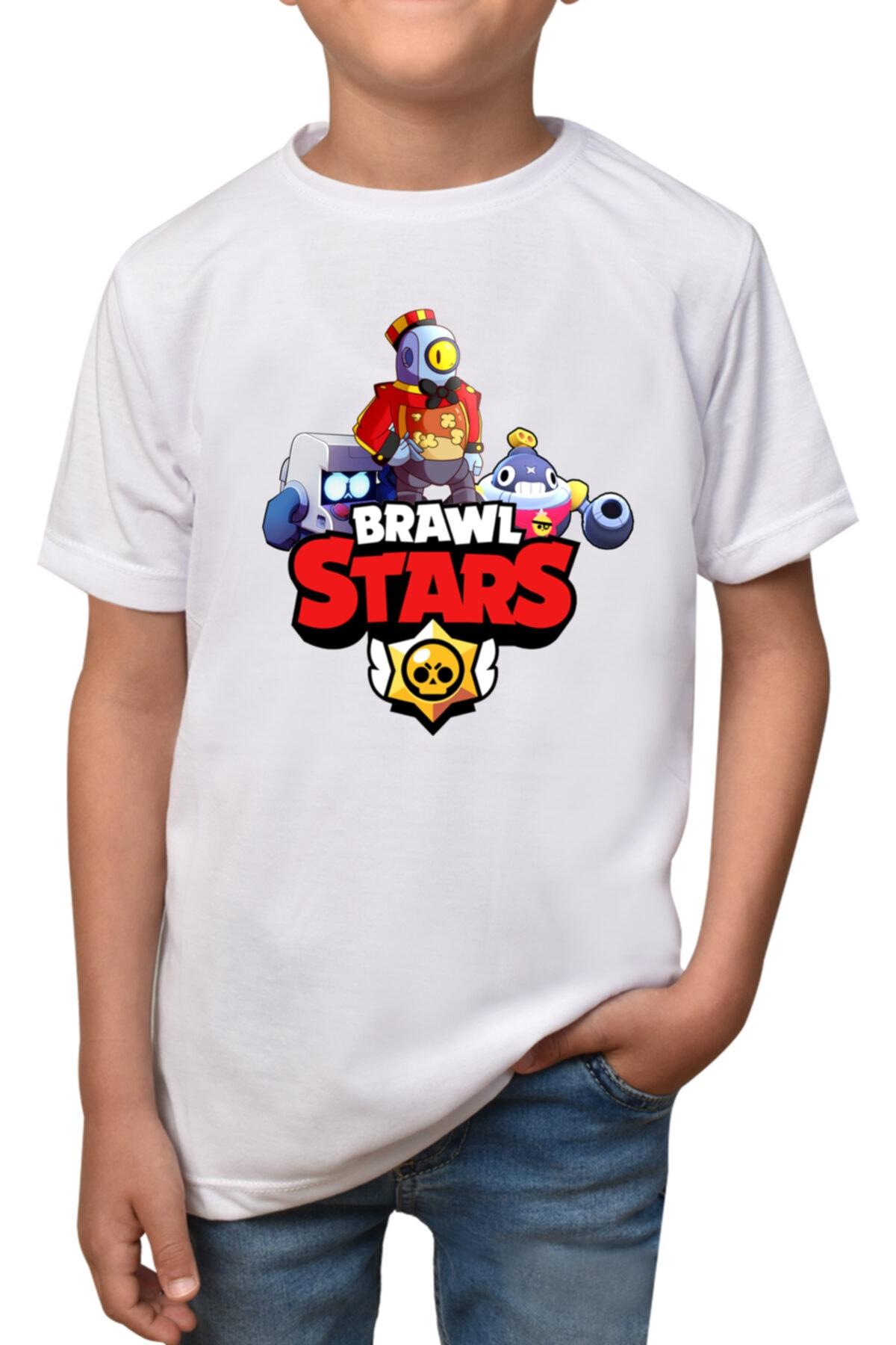 Çocuk Beyaz Brawl Stars T-shirt T-13