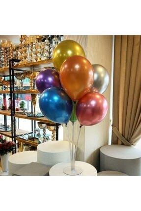 KullanAtParty Balon Standı 7 Adet Metalik Balon 0
