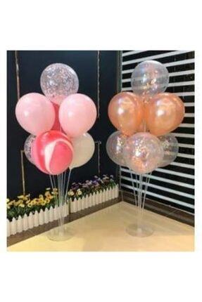 KullanAtParty Balon Standı 7 Adet Metalik Balon 1