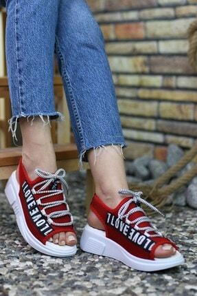 Riccon Kırmızı Kadın Sandalet 0012999 1