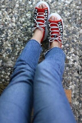 Riccon Kırmızı Kadın Sandalet 0012999 2