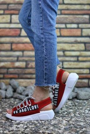Riccon Kırmızı Kadın Sandalet 0012999 4