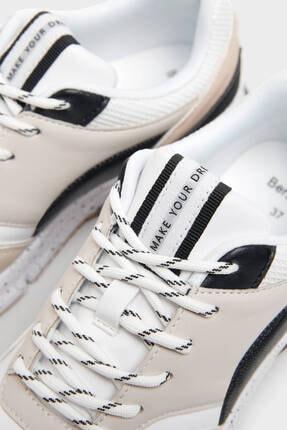 Bershka Kadın Bej Kontrast Spor Ayakkabı 3